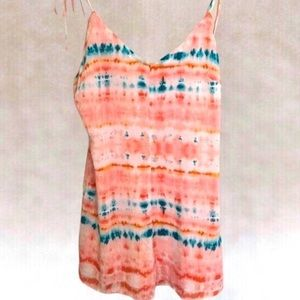 WILD HONEY TIE DYE SHORT ROMPER
